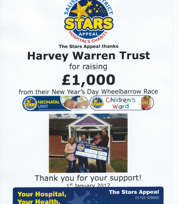 Stars Appeal Fundraising Certificate